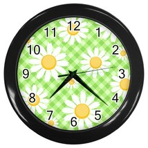 Daisy Custom Black Wall Clock - $19.95