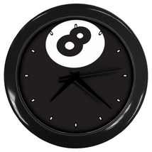 8 Ball Custom Black Wall Clock - $19.95