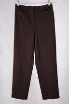 Talbot's Petites Women's 6 Brown Stretch Polyester Straight Leg Dress Pants - $10.88