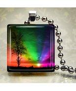 Rainbow Sky Glass Pendant - $7.95