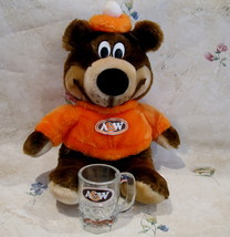 Vintage A&W Root Beer Rootbeer TEDDY BEAR and Mug Large Oval Logo Child ... - $24.95