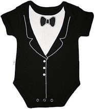 Funny Baby One-Piece Bodysuit, Tuxedo 3-6 months, Frenchie Mini Couture - $13.96