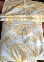 Pottery Barn Josephine Duvet Cover Yellow Queen 2 Standard Sham Sunflowe... - $129.00