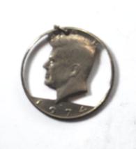 Kennedy 50c Half Dollar 1974 D Head Cut Out Round Coin Pendant Charm  - $19.79