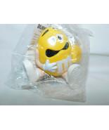 M Ms Yellow Peanut Roll Along Burger King Lunch Box NIP 1997 3 Inches Tall - $5.99