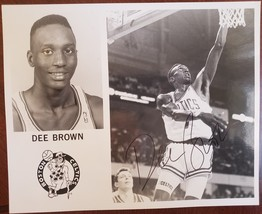 1994 Boston Celtics DEE BROWN B&W signed glossy photo - $7.95
