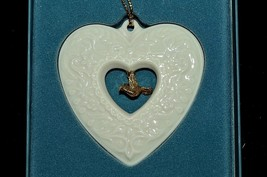 LENOX Holiday Charm Collection Heart Gold Charm Dove Christmas Ornament ... - $14.82
