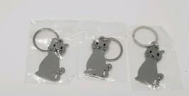 3x Fashion Cat Keychain Keyring Ring Women's Men's Jewelry Kitty catlady - $7.50
