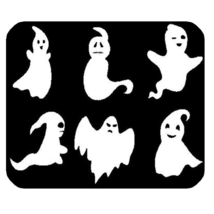 Mouse Pad Ghostbusters Scary Horror Cartoon Animation In Cute White Design - €5,33 EUR