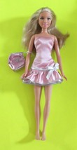 Flat Footed Barbie Dressed Green Eyes Blond Bendable Legs Purse - $10.90