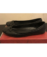 COACH Black  Leather Flat Shoes Q226 Size 9.5M Pre-owned - $29.70