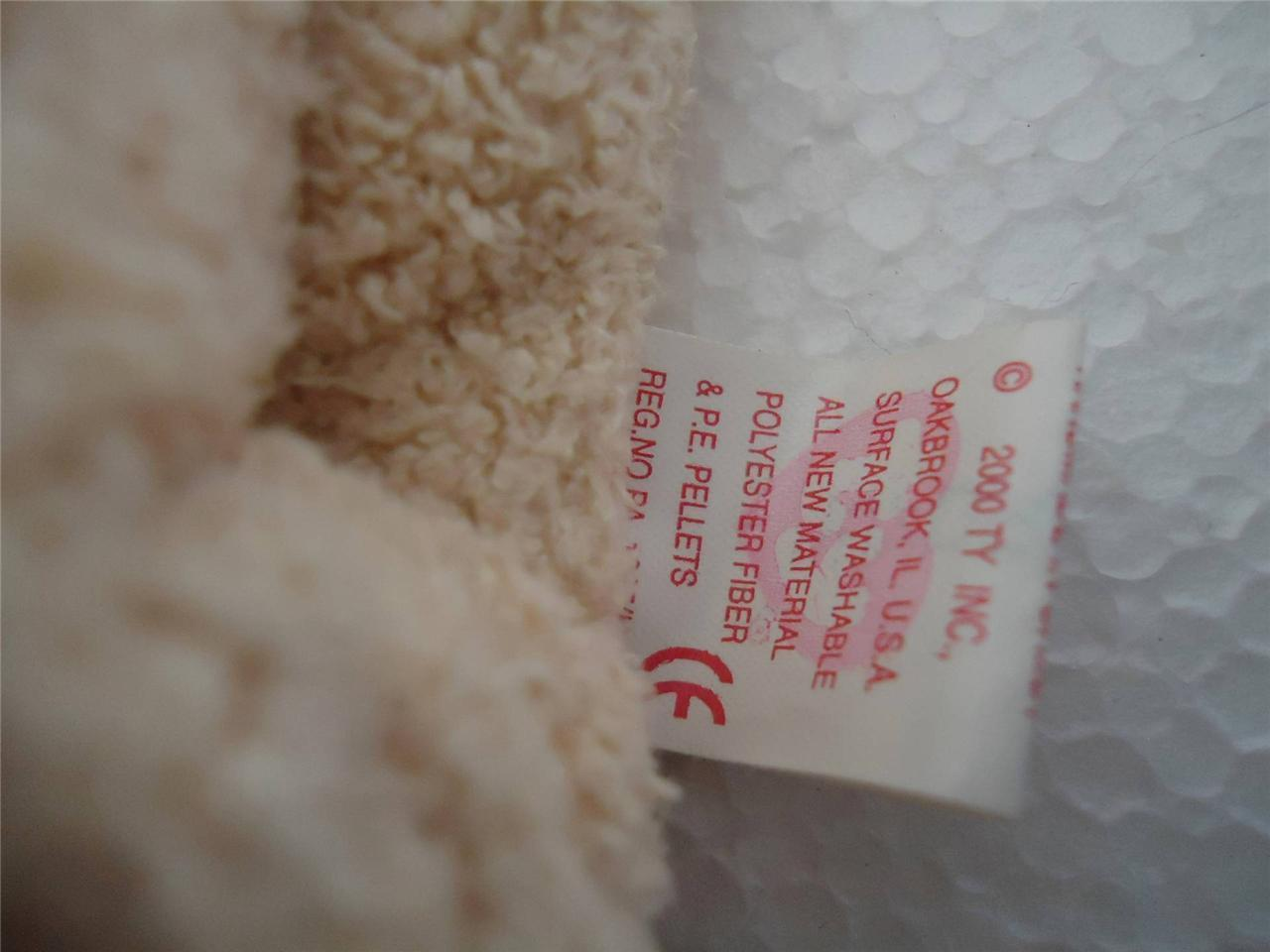 TY Beanie Baby Rufus the Dog 2000 with Tags