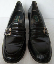 COLE HAAN - Women's Black Patent Leather Heeled Loafer Shoes -- 7AA - $22.99