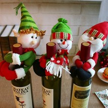 Christmas decorations Santa snowman bottle sets of medium bottle holding  - $3.90