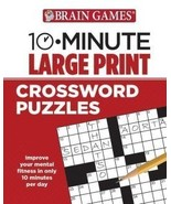 Brain Games - 10 Minute: Large Print Crossword Puzzles [Spiral-bound] Pu... - $12.82
