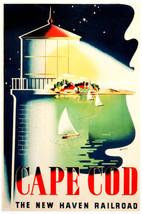"18x24""Poster decoration.Room Interior art design.Cape Cod Mass.Lighthous... - $19.95"