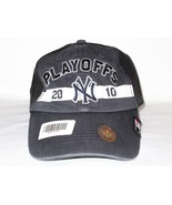 New York NY Yankees '47 Brand MLB Baseball 2010 Playoffs Cap Hat MSRP Bl... - $14.99
