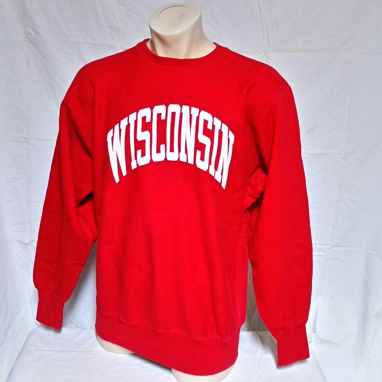 VTG Wisconsin Badgers Champion Reverse Weave Sweatshirt Crew Neck Jumper XXL 2XL