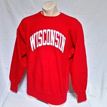 VTG Wisconsin Badgers Champion Reverse Weave Sweatshirt Crew Neck Jumper... - $49.99
