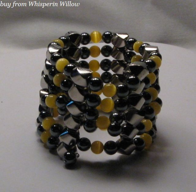 Primary image for Yellow Tiger-Eye Extra Strength Magnetic Hematite Lariat