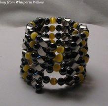Yellow Tiger-Eye Extra Strength Magnetic Hematite Lariat - $24.00