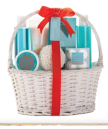7-Piece Tropical Spa Gift Set Relaxation Body Bath Shower With Basket - $26.60