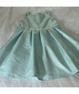 Girls Plus Size 18.5 18 1/2 Bonnie Jean Aqua Mint White Easter Dress EUC - $28.00