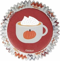 Welcome Fall 75 ct Baking Cups Cupcake Liners Wilton Hot Chocolate - $3.46