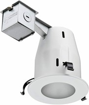 "Lithonia Lighting 4"" Matte White GU10 Glass Recessed Shower Kit - $19.99"