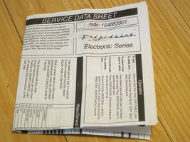 Frigidaire Dishwasher Service Data Sheet & Manual 154683901 - $9.49