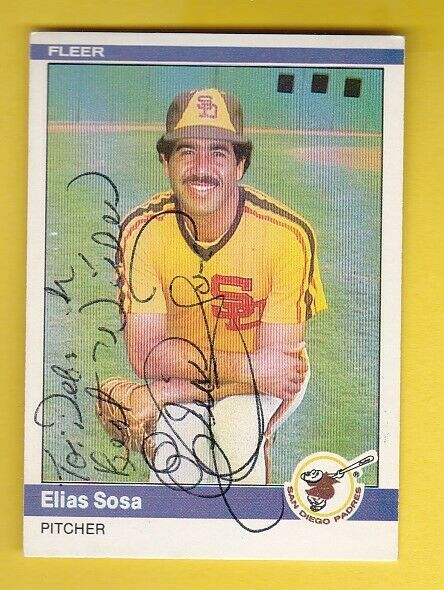 Primary image for ELIAS SOSA AUTOGRAPHED CARD 1983 FLEER SAN DIEGO PADRES INSCRIBED