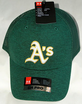 NWT Under Armour 1316998 UA Pro Heat Gear OSFA Oakland A's Truckers Hat ... - $19.78