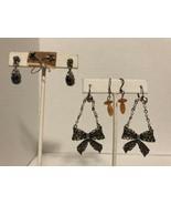 4 Pair Of Vintage Dangle Pierced Earrings - $3.75