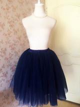 Navy blue Women Cheap Tulle Skirt Custom Size Navy Midi Tulle Skirt NWT image 3