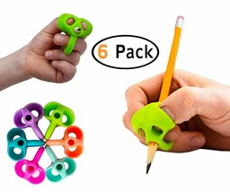 B-KIDS Pencil Grips for Kids Handwriting OT Pen Grip (6 PACK) - $12.71