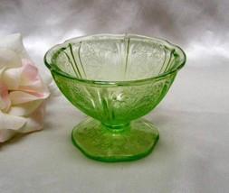 3163 Jeannette Green Cherry Blossom Sherbet - $19.00