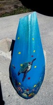 Sea Turtle hand painted Palm Tree Frond Nautical marine life wall art to... - £40.12 GBP