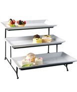 Porcelain 3 Tier Serving Tray – Rectangular Dessert Stand Serving Platter - $23.21