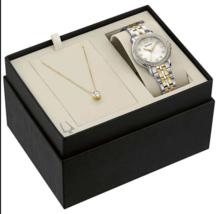 Bulova - Two-Tone Stainless Steel Women's Watch Crystal Stud Set - 98X127 - $85.07