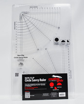 Creative Grids Circle Savvy 11-3/4in x 18-1/2in Quilt Ruler - $47.46