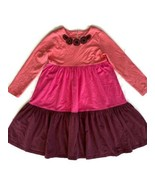 Hanna Andersson Tiered Dress Colorblock 140 Twirl 10 - $24.26