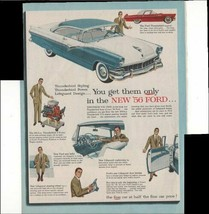 Chevrolet The Hot One's Even Hotter '56 Bel Air 2 Pg 1955 Antique Advert... - $1.50