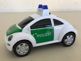 """Dickie Toys Polizei Police Car with Sound & Flashing Lights Volkswagen Bug 5.5"""" - $15.71"""