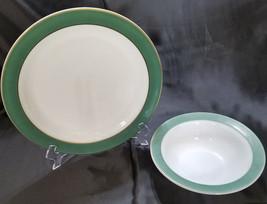 Vintage Pyrex Regency Serving Set - Olive Green, 2 pieces (circa 1950s) - $27.00