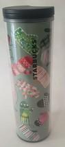 STARBUCKS Holiday Christmas Mittens 16 oz Coffee Tumbler 2017 Green red ... - $12.86