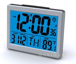 "Atomic Desk bedroom Alarm Clock-1.5"" Time Number, Back Blue Light  Brand... - $28.97"