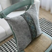 Embroidery Double faced Fleece Pillow Case Hotel Backing Block Cushion C... - $18.20