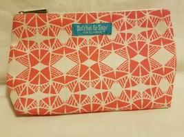 Satchel & Sage for Clinique Salmon & Cream Multicolor Cosmetic Makeup Bag New - $9.89