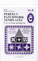 Marti Michell Perfect Patchwork Template-Set R - Peaky & Spike 2/Pkg - $16.74