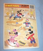 1985 Walt Disney's Friends Golden Frame-Tray Puzzle-Characters Running Track - $7.25